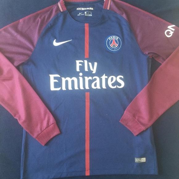 size 40 ea0de 23982 PSG Nike Soccer Jersey Long Sleeve Neymar